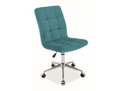 Кресло компьютерное SIGNAL Q-020 Velvet бирюзовый/хром