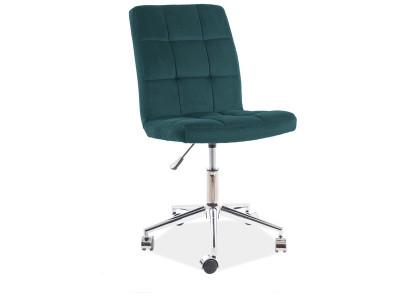 Кресло компьютерное SIGNAL Q-020 Velvet зеленый/хром