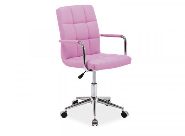 Кресло компьютерное SIGNAL Q-022 розовый/хром