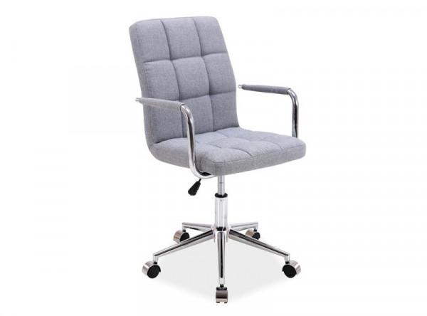 Кресло компьютерное SIGNAL Q-022 tkanina серый/хром