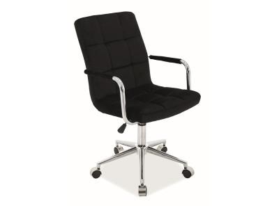 Кресло компьютерное SIGNAL Q-022 Velvet черный/хром