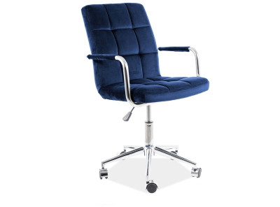 Кресло компьютерное SIGNAL Q-022 Velvet темно-синий/хром