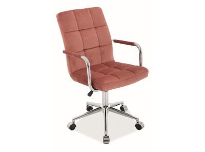 Кресло компьютерное SIGNAL Q-022 Velvet античный розовый/хром