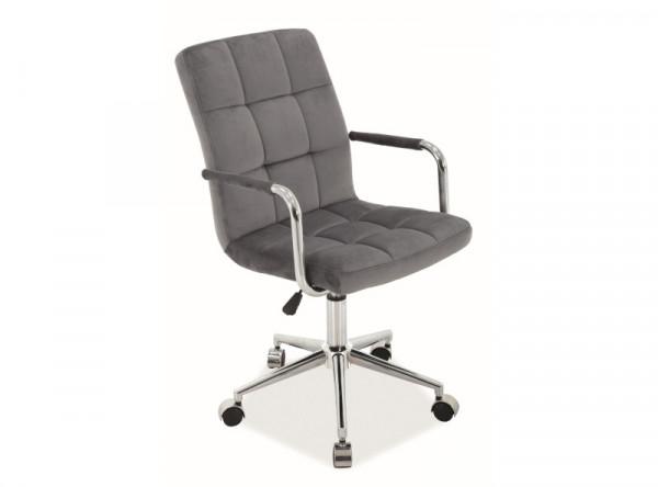 Кресло компьютерное SIGNAL Q-022 Velvet серый/хром