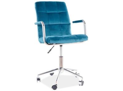 Кресло компьютерное SIGNAL Q-022 Velvet бирюзовый/хром