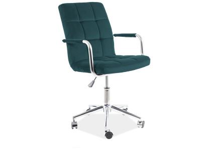 Кресло компьютерное SIGNAL Q-022 Velvet зеленый/хром