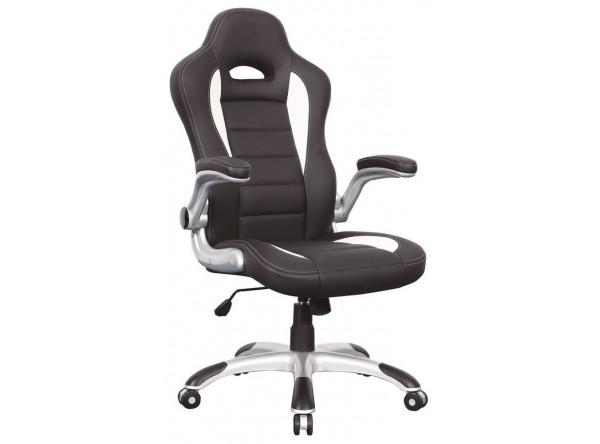Кресло компьютерное SIGNAL Q-024 черный+белый/черный+белый