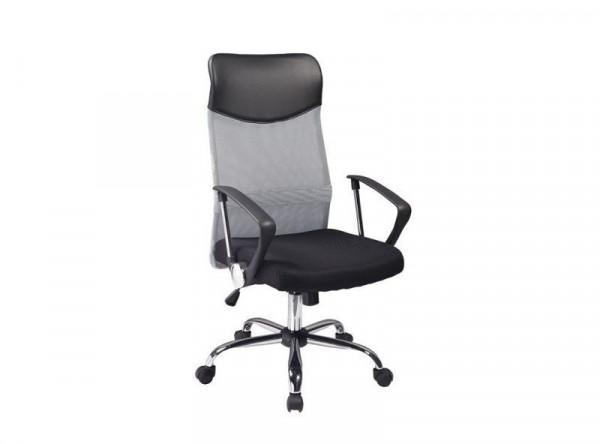 Кресло компьютерное SIGNAL Q-025 серый+черный/хром