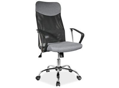Кресло компьютерное SIGNAL Q-025M серый+черный/хром