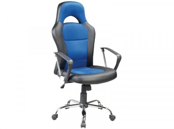 Кресло компьютерное SIGNAL Q-033 синий/хром