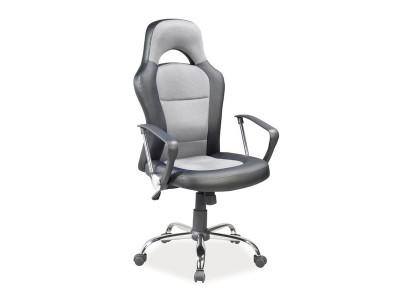 Кресло компьютерное SIGNAL Q-033 серый/хром