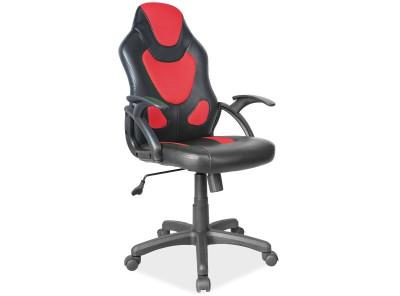 Кресло компьютерное SIGNAL Q-100 черный+красный/черный