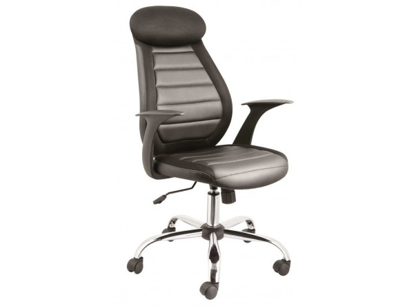 Кресло компьютерное SIGNAL Q-102 черный/хром