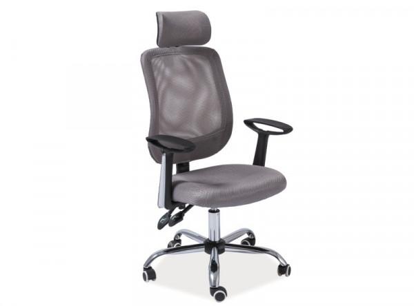 Кресло компьютерное SIGNAL Q-118 серый/хром