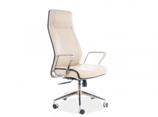 Кресло компьютерное SIGNAL Q-321 бежевый+черный/хром