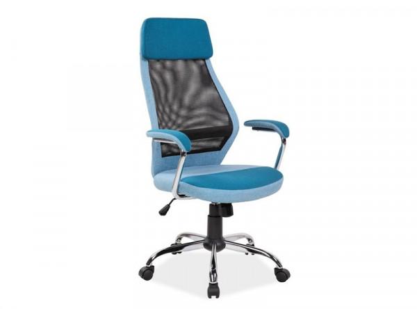Кресло компьютерное SIGNAL Q-336 синий+черный/хром
