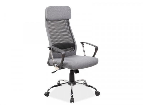 Кресло компьютерное SIGNAL Q-345 черный+серый/хром