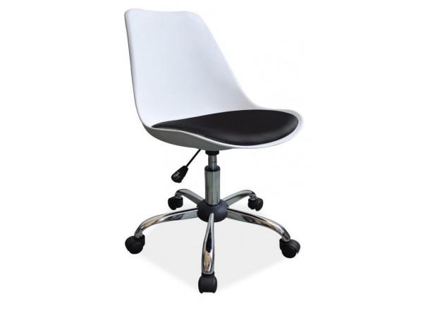 Кресло компьютерное SIGNAL Q-777 белый+черный/хром