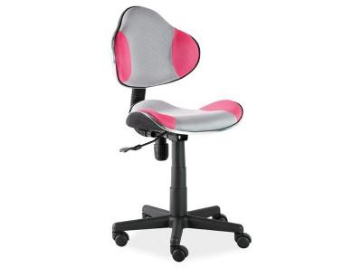 Кресло компьютерное SIGNAL Q-G2 розовый+серый/черный