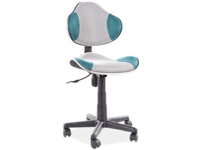Кресло компьютерное SIGNAL Q-G2 бирюзовый+серый/черный