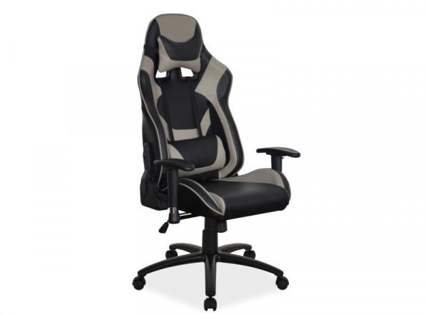 Кресло компьютерное SIGNAL Supra черный+серый /черный