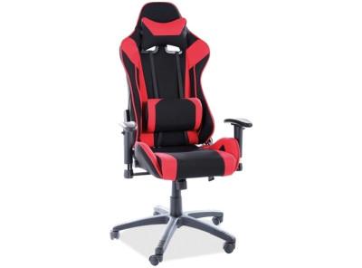 Кресло компьютерное SIGNAL Viper черный+красный/черный