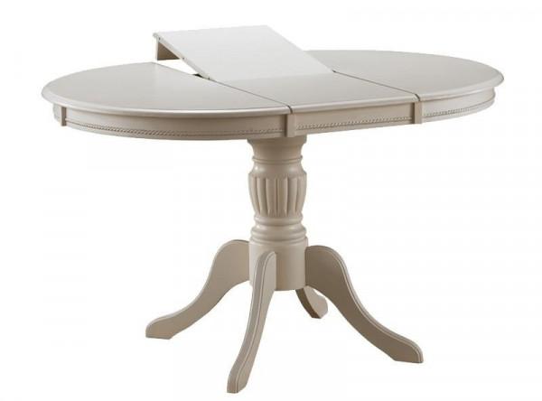 Обеденный стол SIGNAL Olivia белый/экрю, d106-141/76