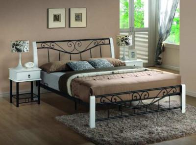 Кровать SIGNAL Parma (160*200)  белый+черный