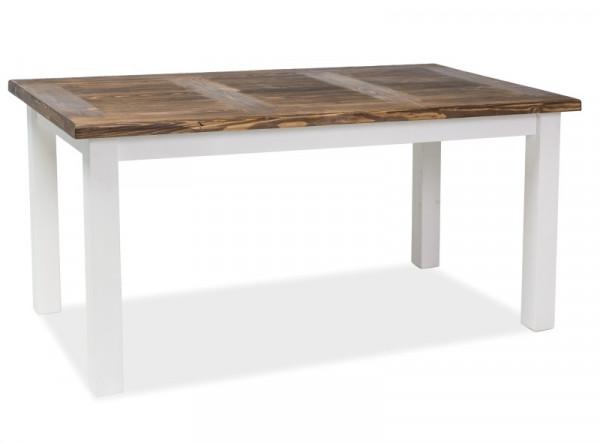 Обеденный стол SIGNAL Poprad 140 раскладной, коричневый/белый, 140-240/80/75