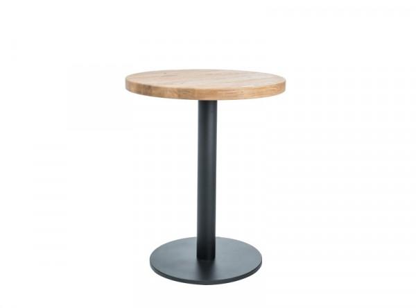 Обеденный стол SIGNAL Puro II 60 дуб натуральный/черный, d60/76