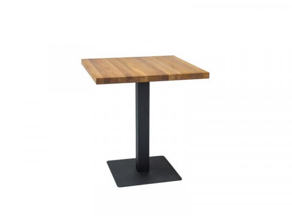 Обеденный стол SIGNAL Puro 60 дуб/черный, 60/60/76