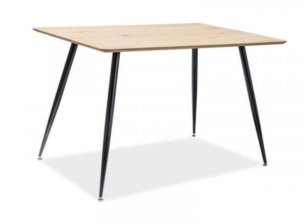 Обеденный стол SIGNAL Remus 120 дуб/черный матовый, 120/80/75