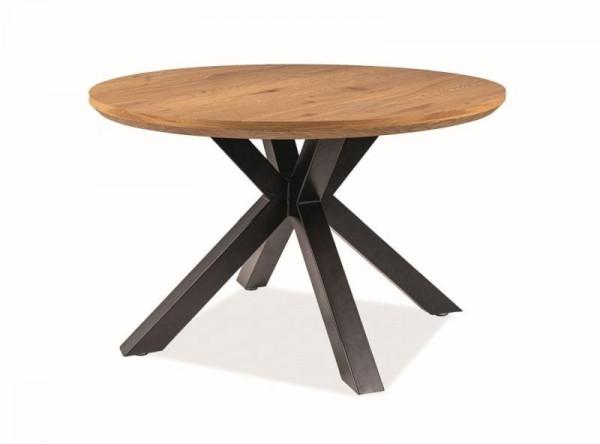 Обеденный стол SIGNAL Ritmo 120 дуб/черный матовый, d120/75