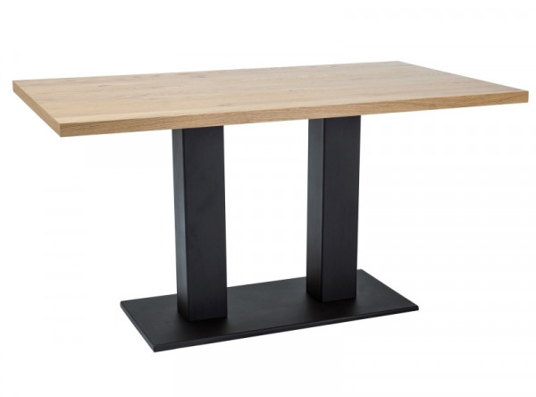 Обеденный стол SIGNAL Sauron 120 дуб/черный, 120/80/78