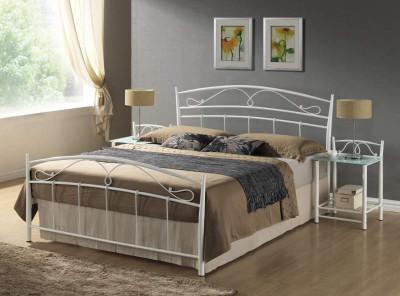 Кровать SIGNAL Siena (140*200) белый+черный