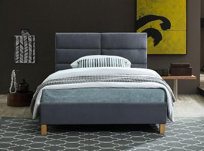 Кровать SIGNAL Sierra Velvet (120*200) серый/дуб