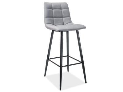 Барный стул SIGNAL Spice серый/черный матовый