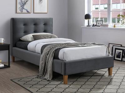 Кровать SIGNAL Texas Velvet (90*200) серый/дуб