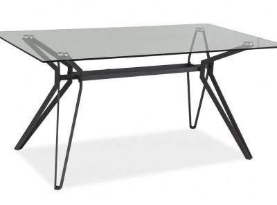 Обеденный стол SIGNAL Tivoli прозрачный/серый, 160/90/76