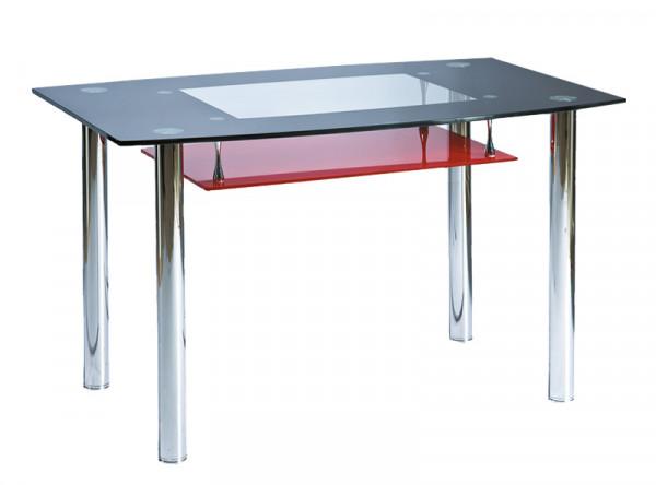 Обеденный стол SIGNAL Twist A черный+красный, 120/75/73
