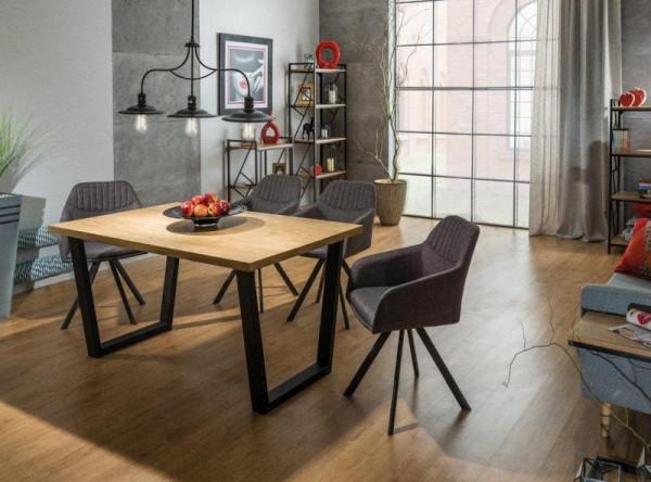 Обеденный стол SIGNAL Valentino 150 дуб/черный, 150/90/78