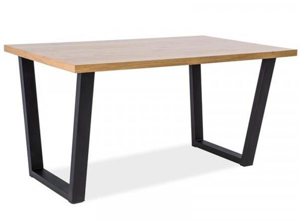 Обеденный стол SIGNAL Valentino 120 дуб натуральный/черный, 120/80/78