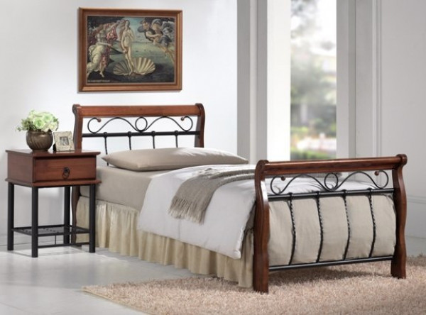 Кровать SIGNAL Venecja (90*200) античная черешня
