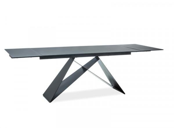 Обеденный стол SIGNAL Westin II 160 раскладной, черный/черный матовый, 160-240/90/76