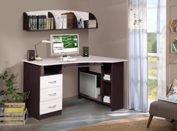 Компьютерный стол Мебель-Класс Престиж (венге/дуб шамони, левый)